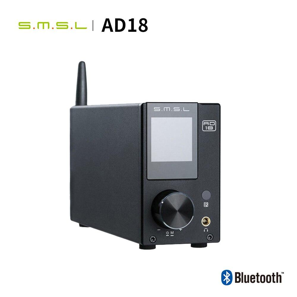 SMSL AD18 HIFI Audio Amplifier Stereo Bluetooth Apt X USB DAC Amp Player DSP Full Digital Power amplificador 2.1 for Speaker